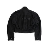 6TH COLLECTION BOMBER JACKET - VINTAGE BLACK