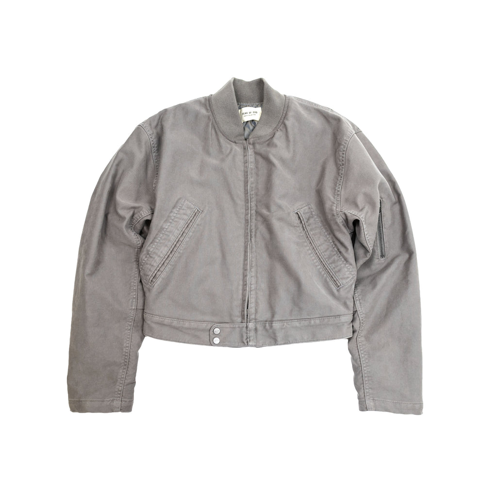 6TH COLLECTION BOMBER JACKET - GOD GREY