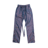 6TH COLLECTION BAGGY NYLON PANT  - BLUE IRIDESCENT