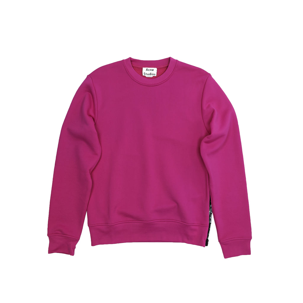 ACNE STUDIOS FISHER TECH LOGO SWEATSHIRT - MAGENTA PINK