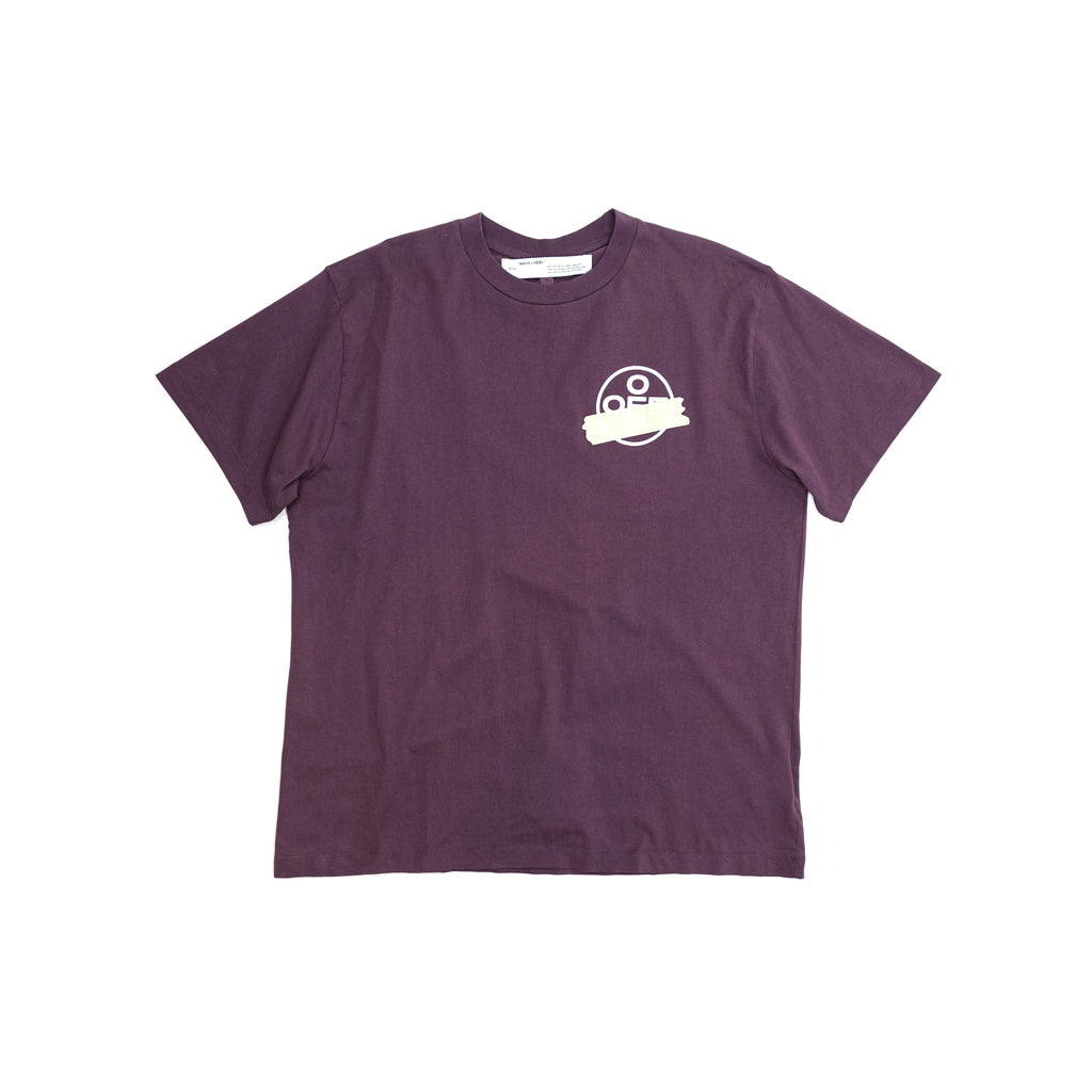 OFF-WHITE TAPE ARROWS S/S TEE - PURPLE/BEIGE