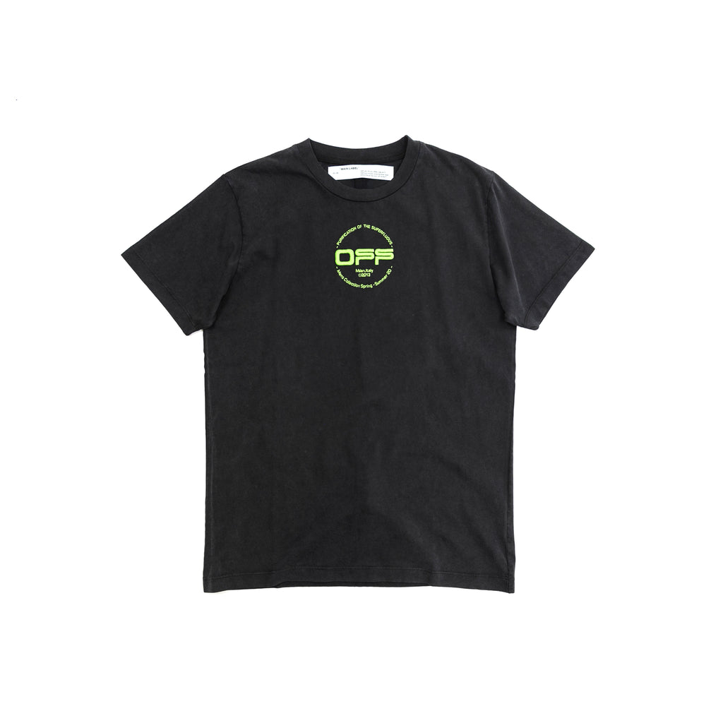 OFF-WHITE HAND LOGO S/S SLIM TEE - BLACK