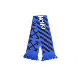OFF-WHITE ARROW SCARF - BLACK/ BLUE