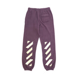 OFF-WHITE TAPE ARROWS SLIM SWEATPANT - PURPLE/ BEIGE