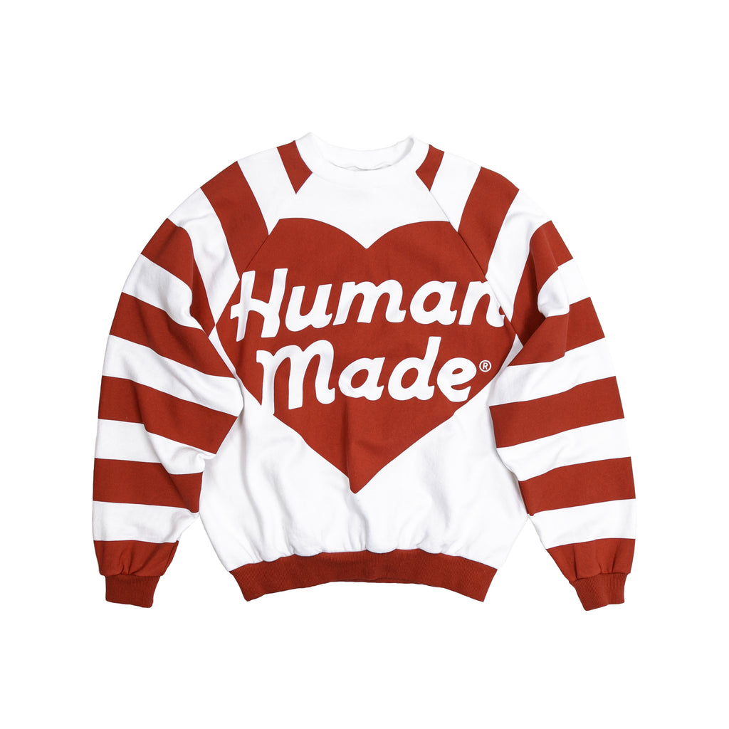 HUMAN MADE RAGLAN BIG HEART SWEATSHIRT - RED