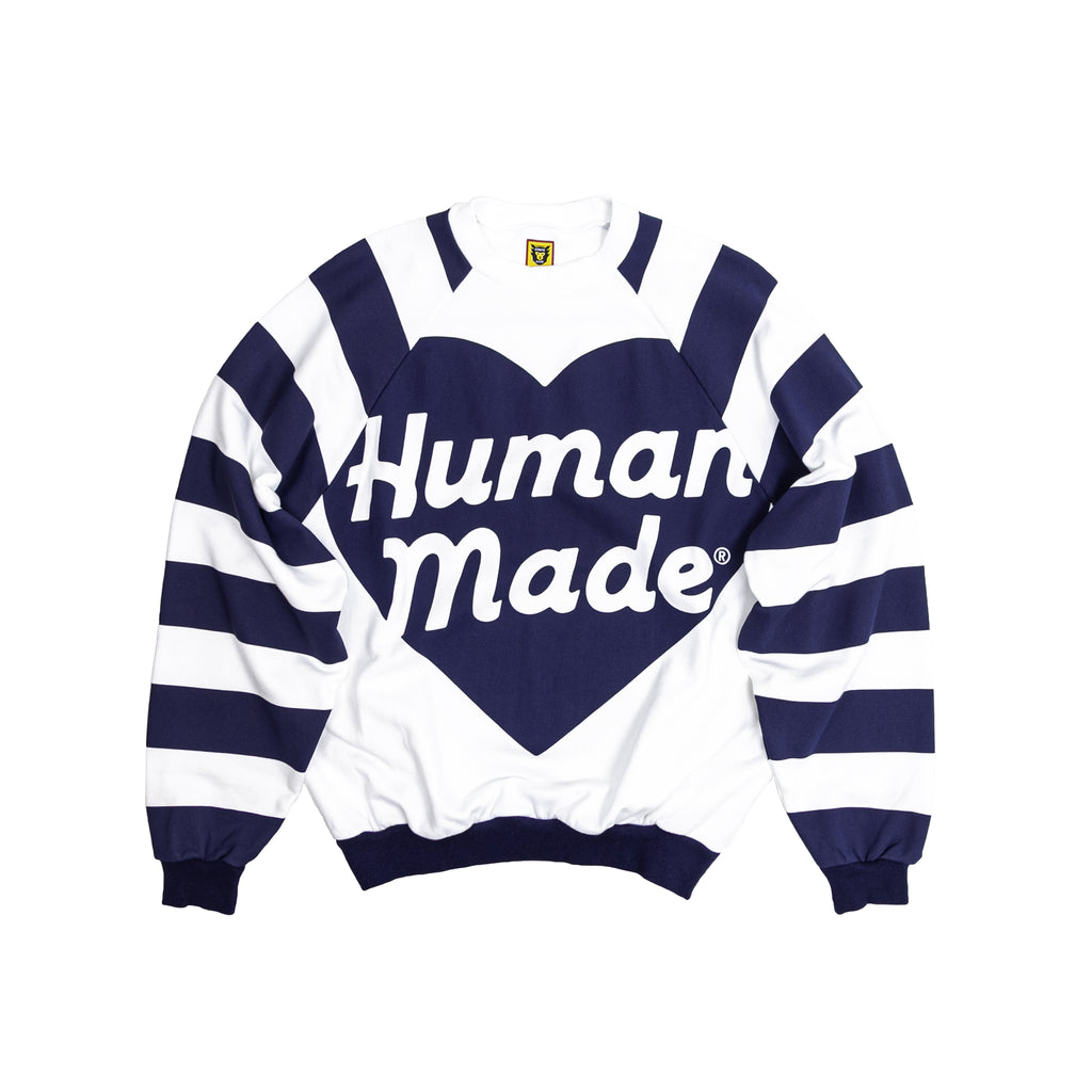 HUMAN MADE RAGLAN BIG HEART SWEATSHIRT - NAVY