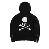 MASTERMIND SEQUIN SKULL ZIP-UP SWEATSHIRT - BLACK
