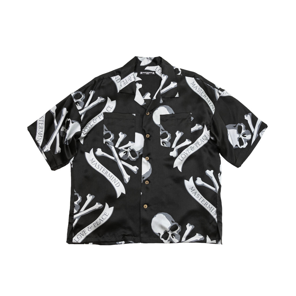 MASTERMIND TROPICAL SKULL SHIRT - BLACK