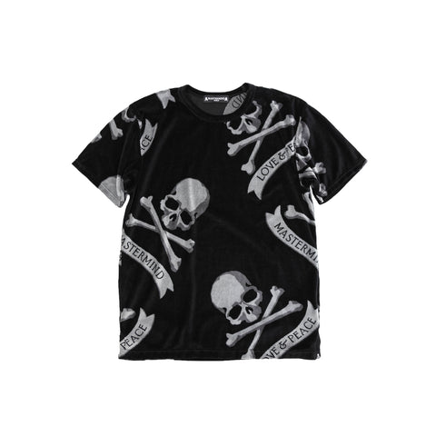 MASTERMIND TROPICAL SKULL T-SHIRT - BLACK
