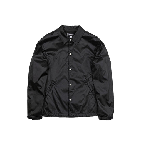 MASTERMIND BLACK CHAIN SKULL COACHES JACKET - BLACK