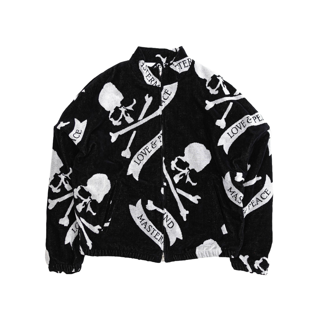 MASTERMIND TROPICAL SKULL ZIP UP JACKET - BLACK