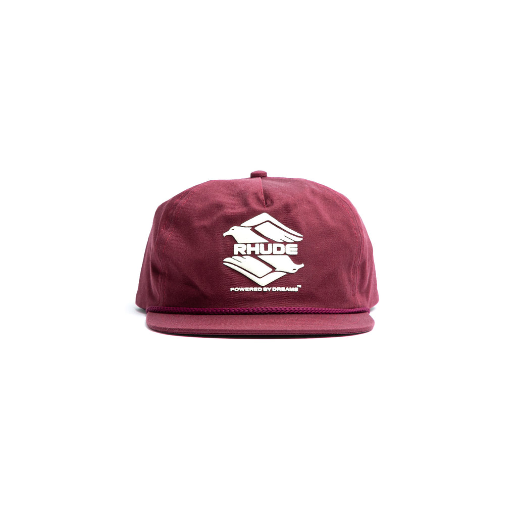 RHUDE DBL EAGLE HAT - BURGUNDY