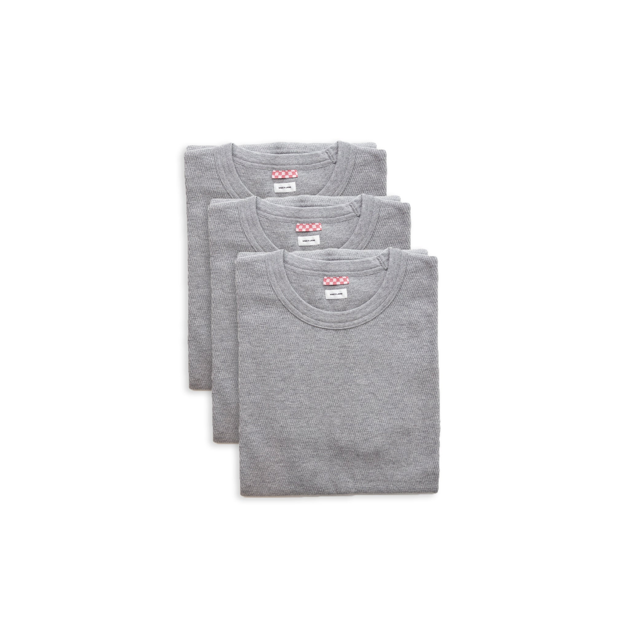 SUBLIG THERMAL CREW 3-PACK S/S  - GREY