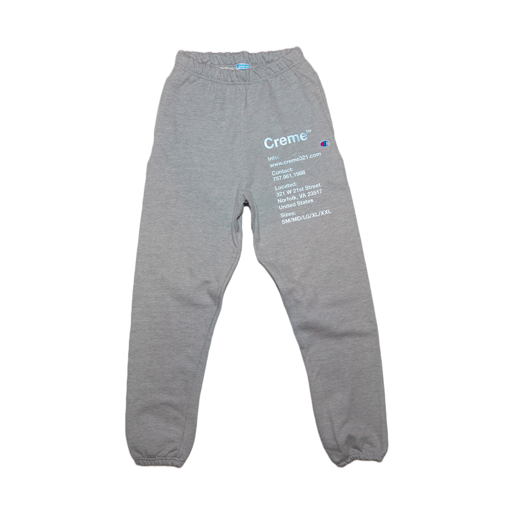 CREME INFO SWEATPANT - OXFORD GRAY