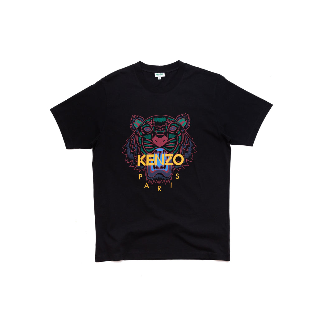 Kenzo High Summer Tiger TShirt Black Color