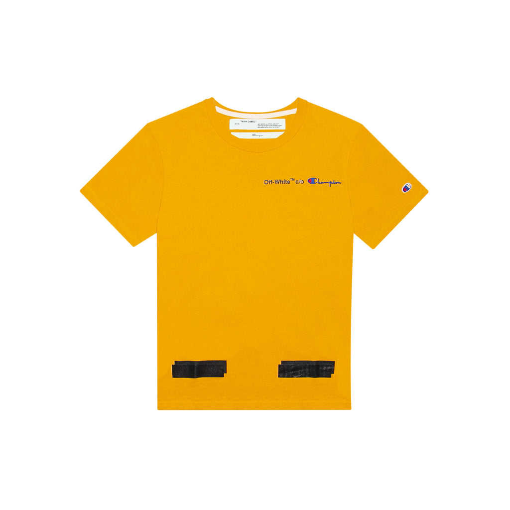 2269029a CHAMPION SHORT SLEEVE TEE - YELLOW – Creme321