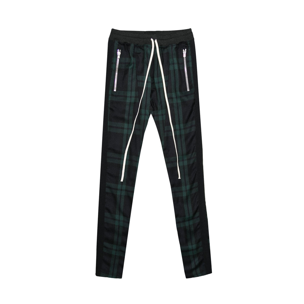 TARTAN WOOL PLAID TROUSERS - GREEN PLAID