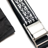 PALM ANGELS NEW TAPE BELT - BLACK / SILVER