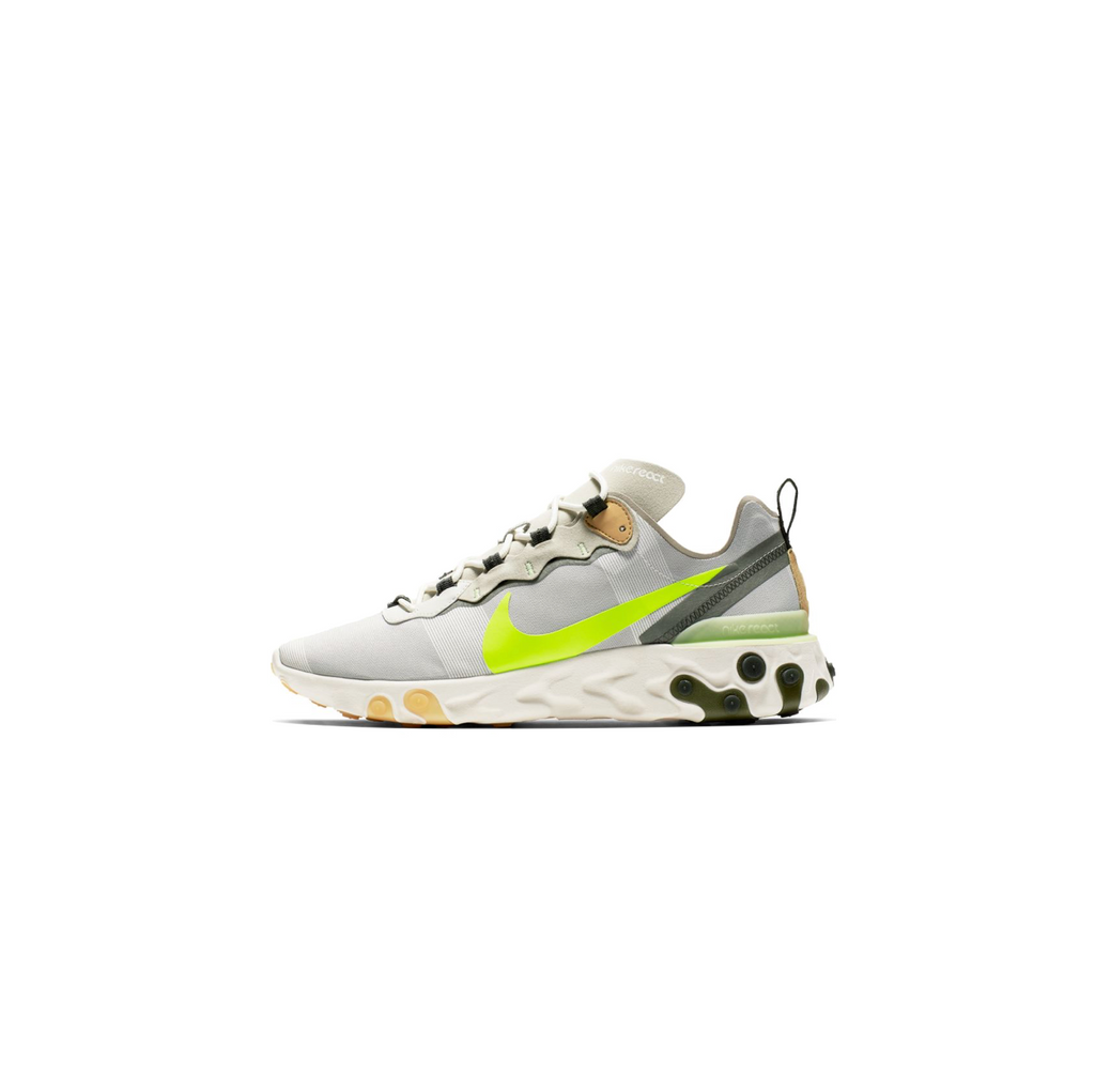 NIKE REACT ELEMENT 55 - GREY/ VOLT
