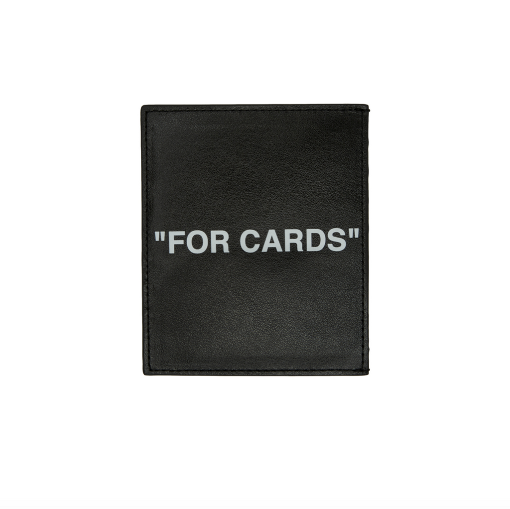 OFF-WHITE QUOTE CARDHOLDER - BLACK