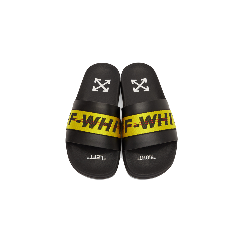 OFF-WHITE INDUSTRIAL SLIDER - BLACK / YELLOW