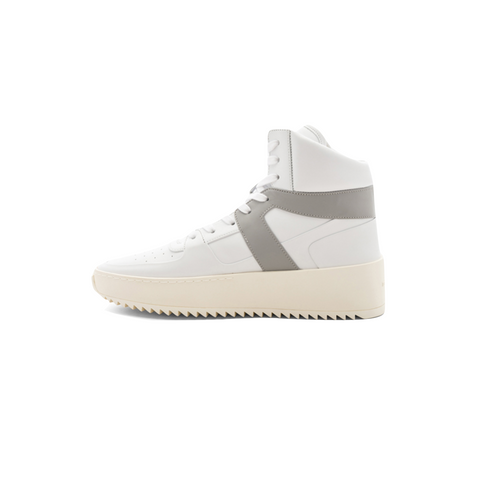 FEAR OF GOD BASKETBALL SNEAKER - LEATHER WHITE/ PERLA