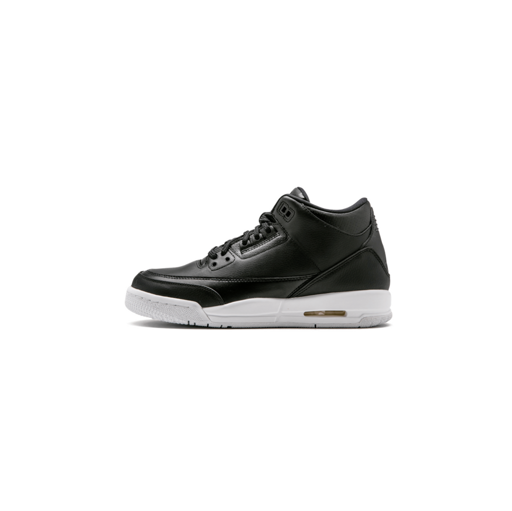 AIR JORDAN 3 RETRO GS - BLACK/ BLACK/ WHITE