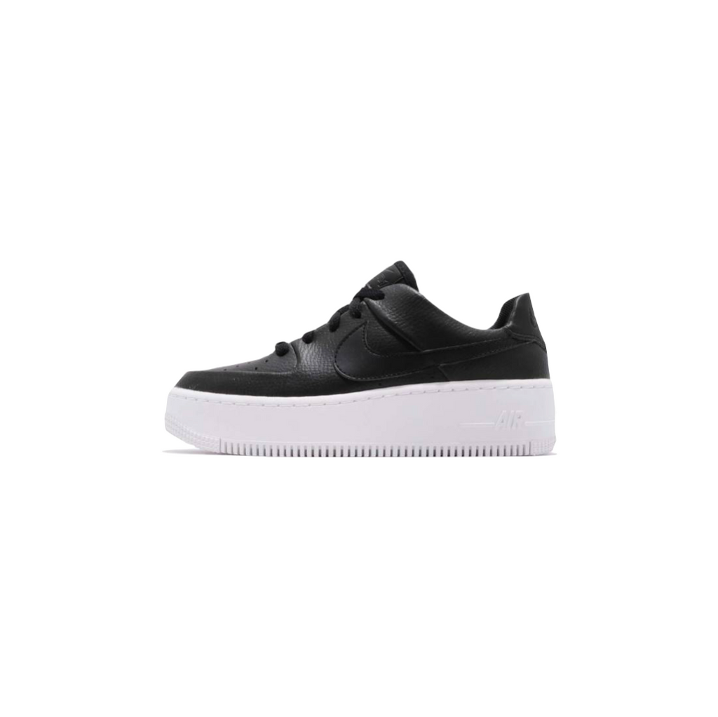 NIKE WOMEN'S AF1 SAGE LOW - BLACK/ BLACK/ WHITE
