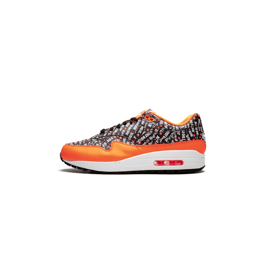 NIKE AIR MAX 1 PREMIUM - BLACK/ BLACK/ TOTAL ORANGE/ WHITE
