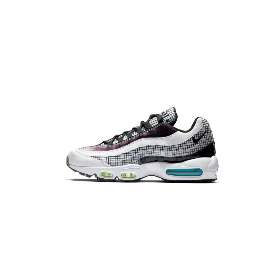 NIKE AIR MAX 95 LV8 - WHITE/ BLACK/ BLUE GAZE