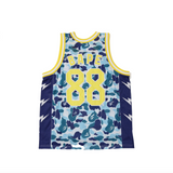 BAPE ABC BASKETBALL TANK - BLUE
