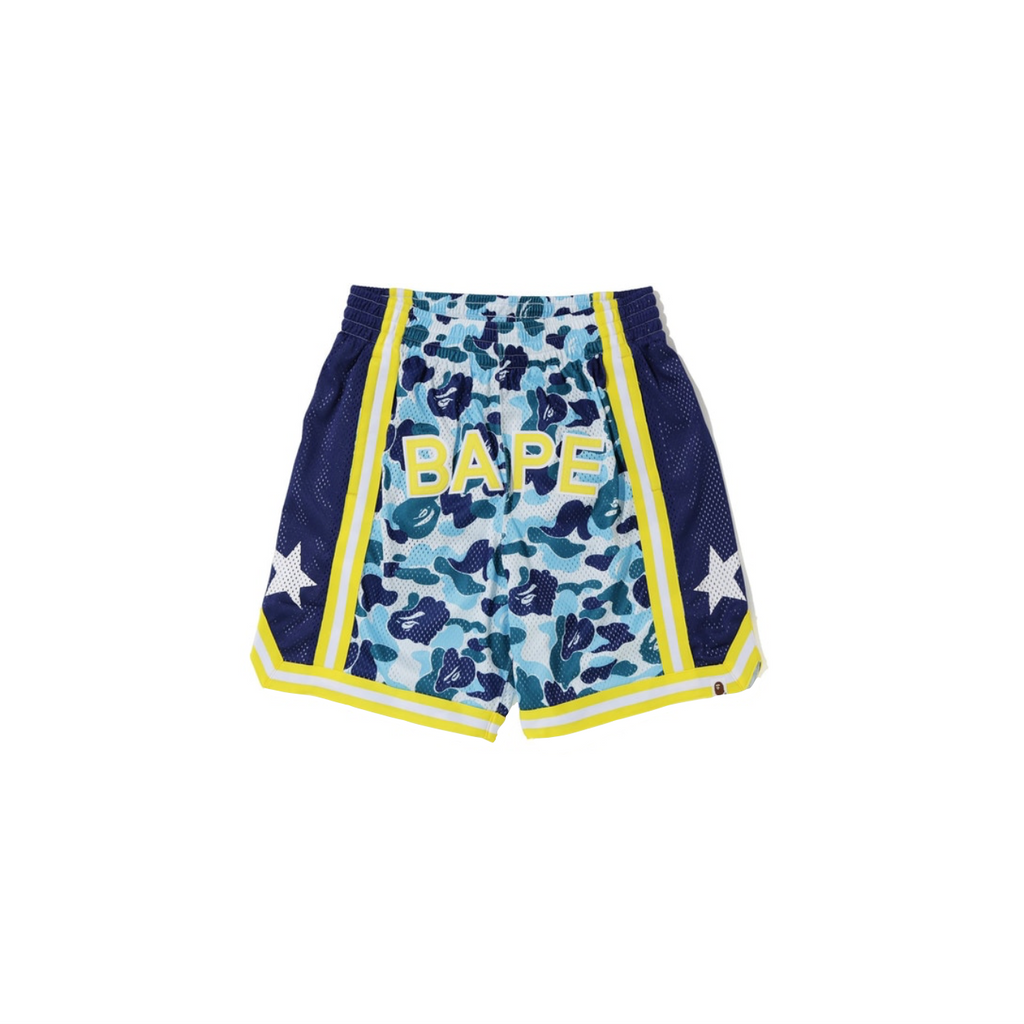 BAPE ABC BASKETBALL SHORTS - BLUE