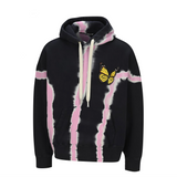 PALM ANGELS BTRFLY PB TIE DYE HOODY - BLACK/ MULTI