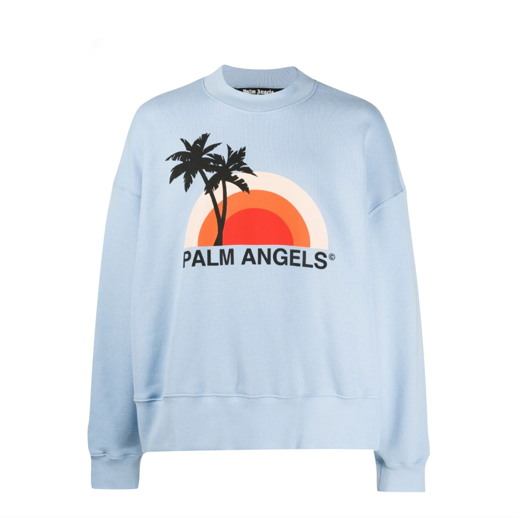 PALM ANGELS SUNSET CREWNECK - LIGHT BLUE