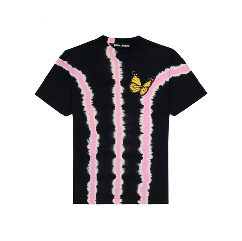 PALM ANGELS BTRFLY TIE DYE TEE - BLACK/ MULTI