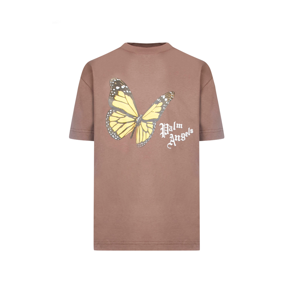 PALM ANGELS BTRFLY TEE - BROWN/ MULTI
