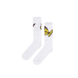 PALM ANGELS BTRFLY SOCKS - WHITE / MULTI
