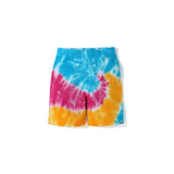 BAPE TIE DYE SHARK SWEAT SHORT - MULTI