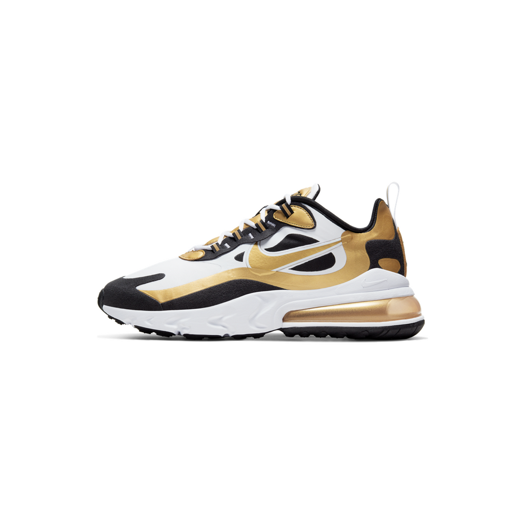 NIKE AIR MAX 270 REACT - WHITE/ METALLIC GOLD