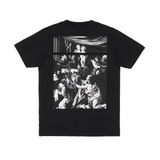 OFF-WHITE CARAVAGGIO SQUARE S/S SLIM TEE - BLACK/ MULTI