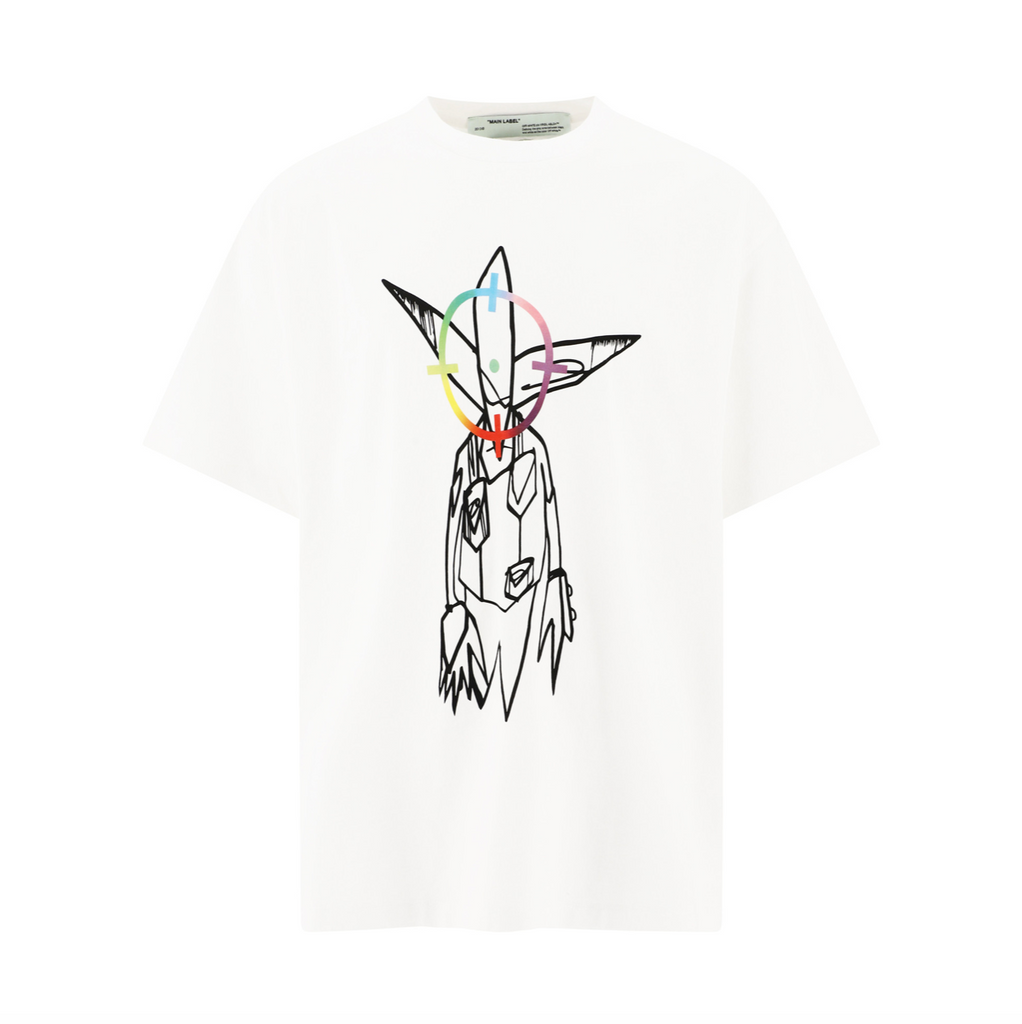 OFF-WHITE FUTURA ALIEN S/S OVER TEE - WHITE/ MULTI