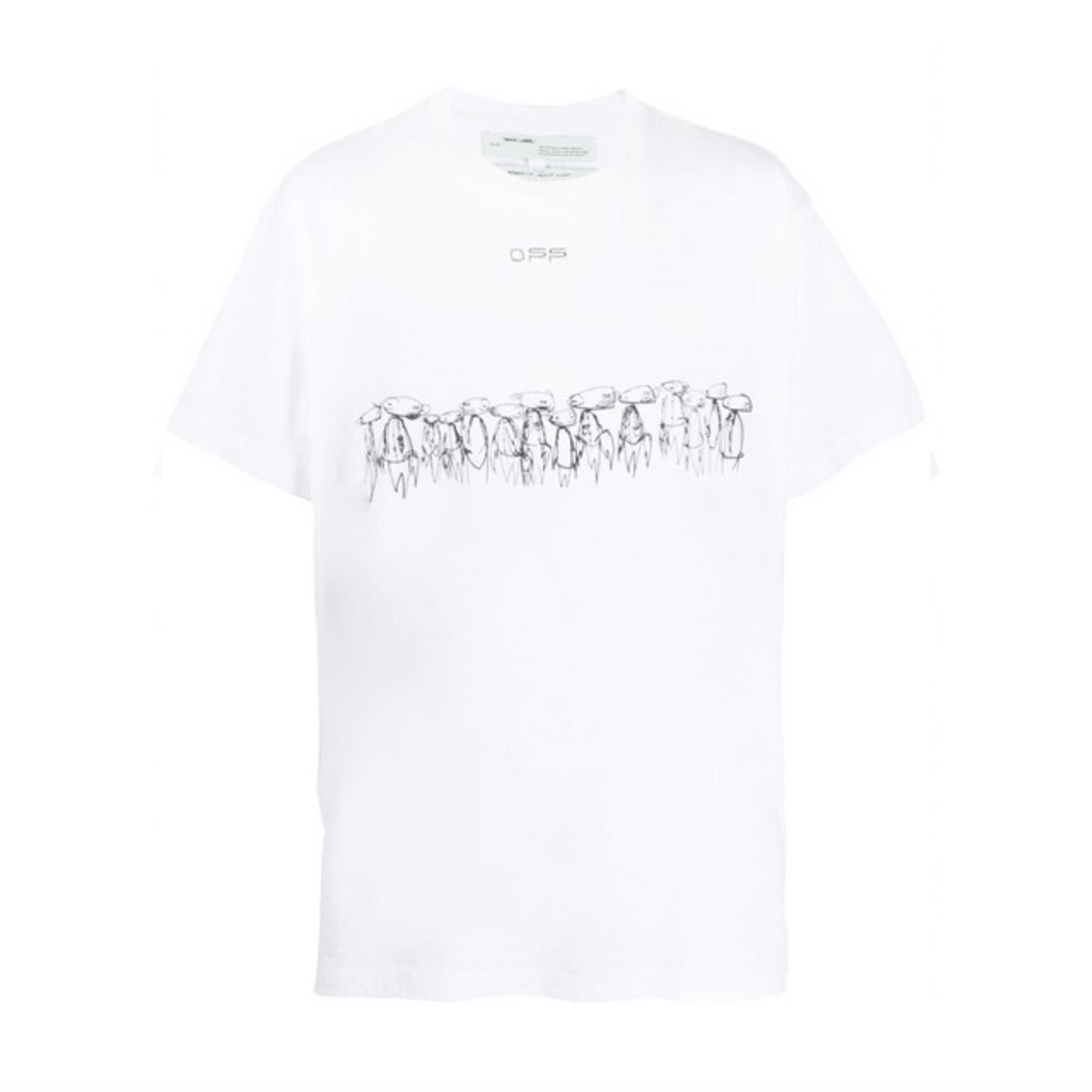 OFF-WHITE FUTURA ATOMS S/S OVER TEE - WHITE/ MULTI