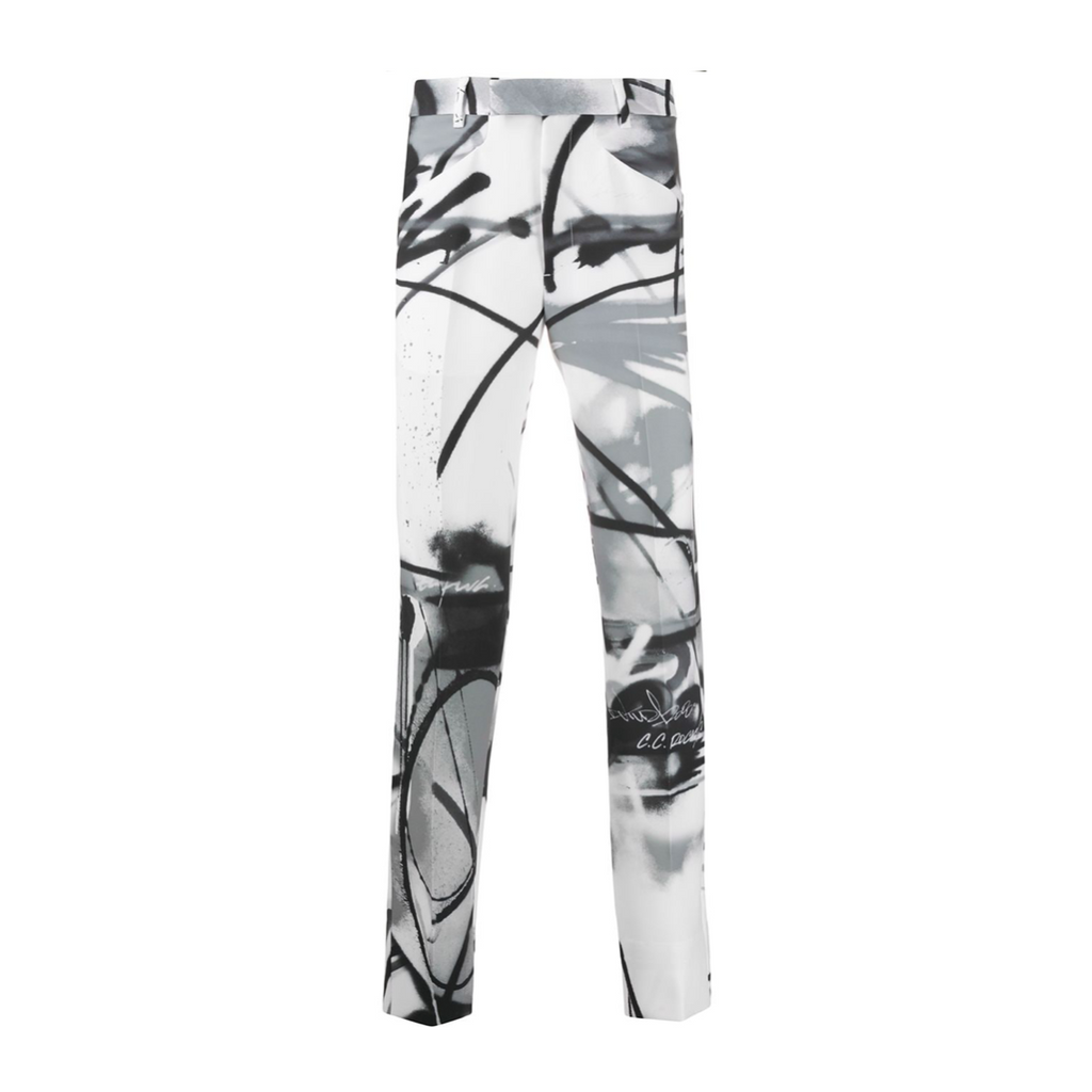 OFF-WHITE FUTURA SPRAY EX PRESIDENT PANTS - ALL OVER/ BLACK