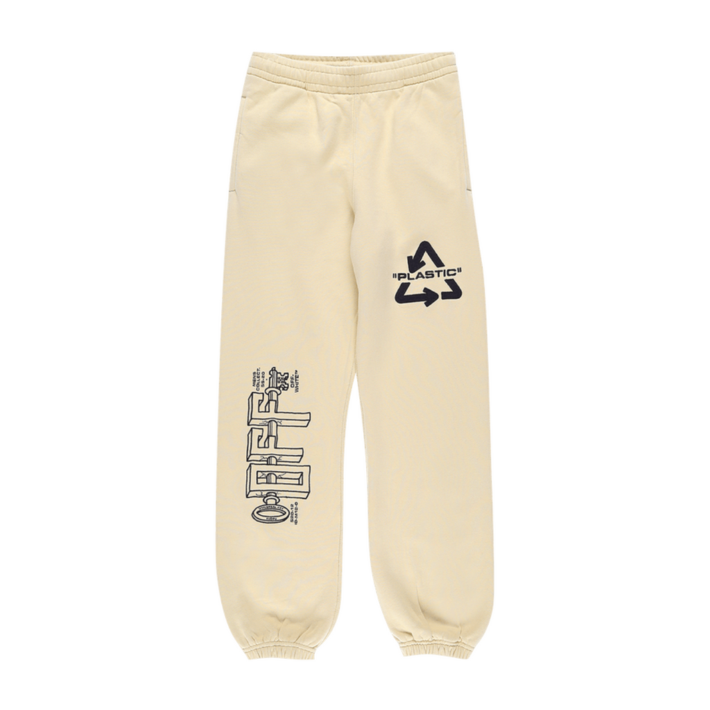 OFF-WHITE UNIVERSAL KEY SLIM SWEATPANT - SAND/ BLACK