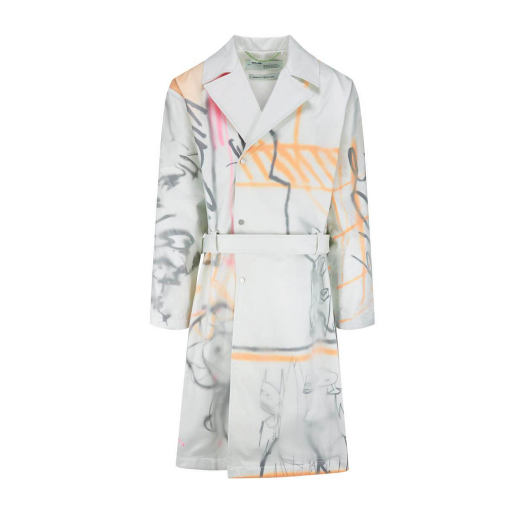 OFF-WHITE FUTURA TRENCH - WHITE/ MULTI