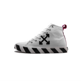 OFF-WHITE MID TOP SNEAKER - WHITE/ BLACK