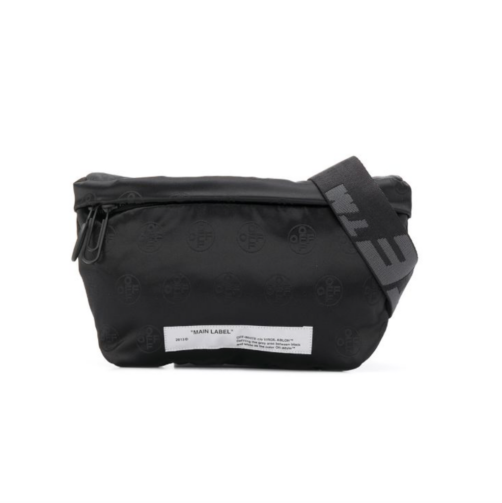 OFF-WHITE MONOGRAM FANNYPACK -  BLACK