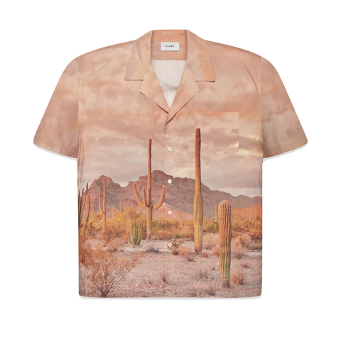 RHUDE CACTUS BUTTON-UP  - BROWN