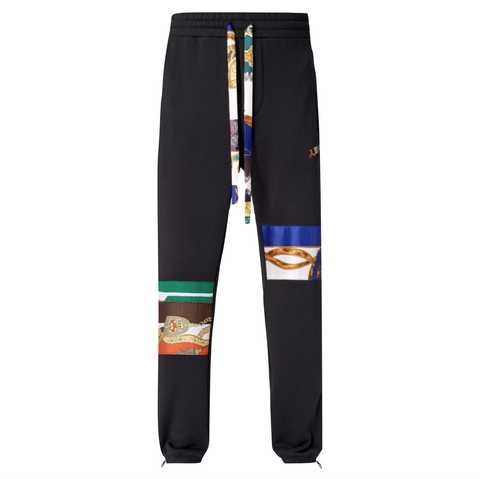 AMIRI PATCH SCARVES SWEATPANTS - BLACK