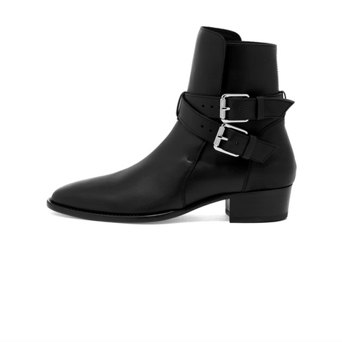AMIRI CALF BUCKLE BOOT - BLACK